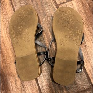 Authentic American Heritage Shoes - Black sandals.